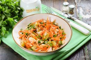 Салат с корейской морковью и маринованными огурцами - фото шаг 7