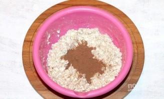 Шоколадно-творожная запеканка с отрубями - фото шаг 3