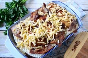 Вафельная лазанья с курицей - фото шаг 8