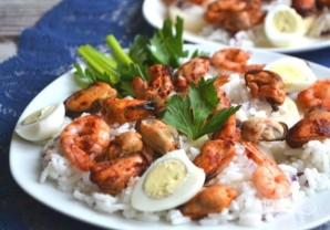 Теплый салат из морепродуктов - фото шаг 6