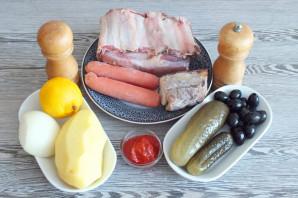 Солянка на говяжьем бульоне - фото шаг 1
