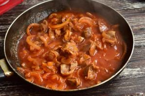 Куриные желудки в томатном соусе - фото шаг 9