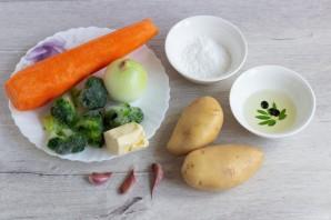 Картофельно-морковная запеканка с брокколи - фото шаг 1
