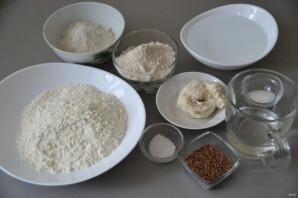 Диетический хлеб без дрожжей - фото шаг 1