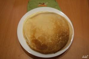 Блинный пирог с грибами - фото шаг 8
