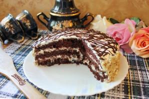 Шоколадный торт с черносливом и орехами - фото шаг 17