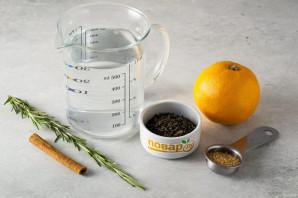 Чай с розмарином и апельсином - фото шаг 1