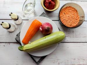 Суп с чечевицей и кабачком - фото шаг 1
