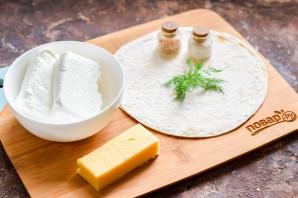 Лаваш с творогом и сыром - фото шаг 1