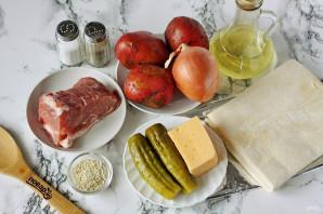 Лодочки из слоеного теста с картофелем и мясом - фото шаг 1