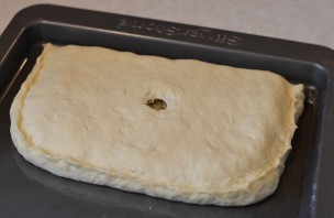 Пирог с грибами из дрожжевого теста - фото шаг 4