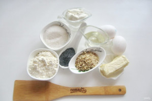 Кекс с маком и орехами - фото шаг 1