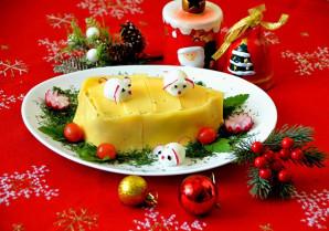 "Салат ""Сырный ломтик"" на год Крысы - фото шаг 9"
