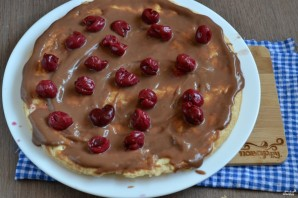 Шоколадный торт с вишней - фото шаг 6