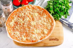 Пицца из лаваша в микроволновке - фото шаг 4