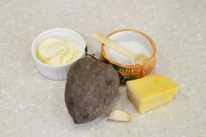 Салат из свеклы с сыром и чесноком - фото шаг 1