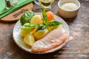 Куриный суп с базиликом - фото шаг 1