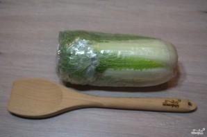Диетический салат с пекинской капустой - фото шаг 1
