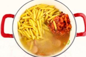 Паста с сосисками и сыром - фото шаг 2