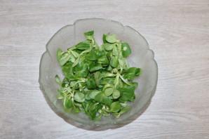 Зелёный салат с ветчиной - фото шаг 5
