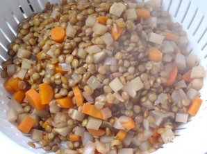Салат из чечевицы с горчицей - фото шаг 5
