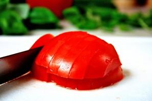 Греческий салат с креветками - фото шаг 4