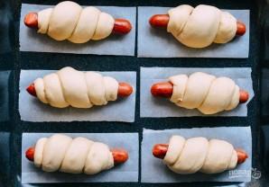 Рецепт сосисок в тесте - фото шаг 3