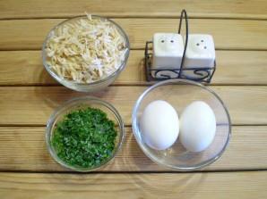 Суп с зеленью и яйцом - фото шаг 3