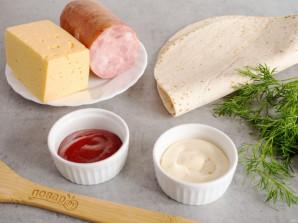 Тортилья с ветчиной и сыром - фото шаг 1