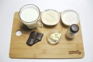 Шоколадный пудинг из манки - фото шаг 1