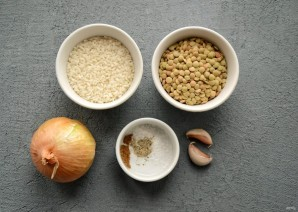 Котлеты из чечевицы и риса - фото шаг 1