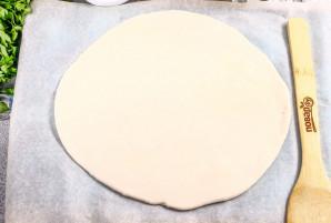 Пицца с колбасой из слоеного теста - фото шаг 2