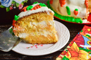 Морковный торт с ананасами - фото шаг 13