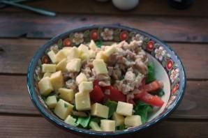 Салат с фетаской и курицей - фото шаг 4