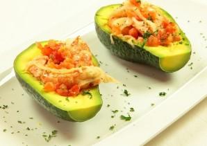 Жареные креветки с авокадо - фото шаг 9