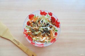 Витаминный салат из морской капусты - фото шаг 7