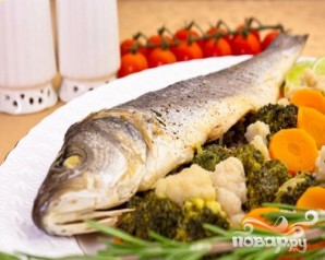 Сибас на пару с овощами - фото шаг 6