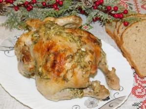 Запеченная курица с укропом и чесноком - фото шаг 5