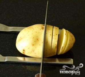 Картофель в форме ежика - фото шаг 1