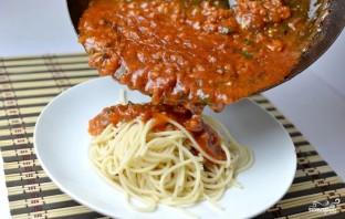 Спагетти с мясом - фото шаг 5