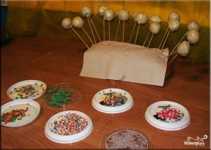 Кейк попсы со сгущенкой - фото шаг 5