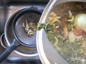 Суп с курицей на гриле - фото шаг 3