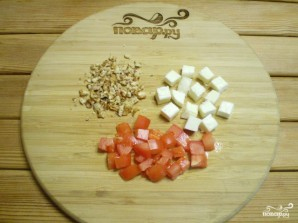 Салат из баклажанов с сыром - фото шаг 3