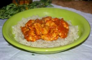 Курица под соусом карри - фото шаг 8
