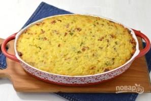 Запеканка из риса, ветчины и сыра - фото шаг 7