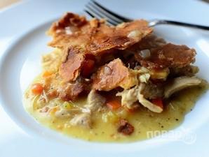 Пирог в горшочке с курицей и овощами - фото шаг 7