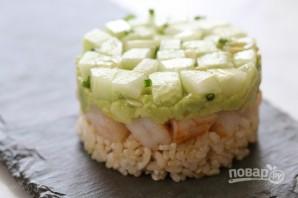 Торт с креветками и авокадо - фото шаг 6