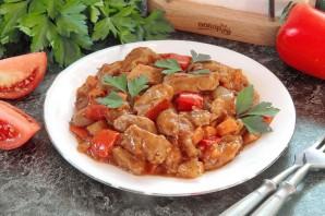 Индюшатина с овощами в томатном соусе - фото шаг 9