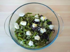 Салат из зеленой фасоли с сыром - фото шаг 3