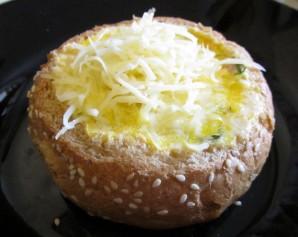 Сырный суп в хлебе - фото шаг 5